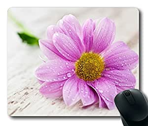 Pink Wet Flower Masterpiece Limited Design Oblong Mouse Pad by Cases & Mousepads