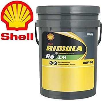 Shell Rimula R6 LM 10W40 E7 228,51 Cubo de basura 20 L-Aceite de motores y vehículos pesados camión: Amazon.es: Coche y moto