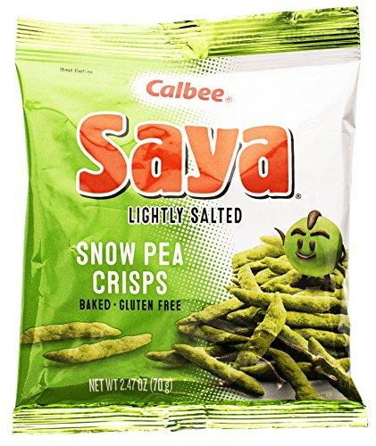 Calbee Snow Pea Saya Crisp Snack, 2.47-Ounce Bags (Pack of 12)