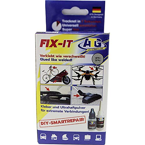 ATG FIX-IT - The Liquid Weld - Industrial Adhesive for Home Use, Heat Resistant and Waterproof - DIY Smart Repair - Industrial Adhesive Kit with Extensive Accessories. The Industrial Adhesive, -