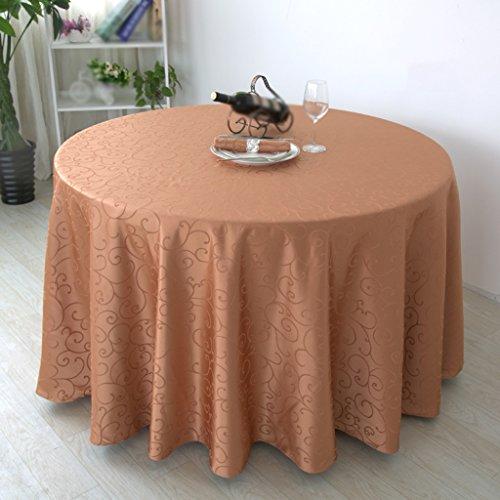 Marron 300cm diameter Nappe, Tissu de table pleine grandeur Tissu à café Simple Antifouling Modern Home Hotel - Rectangle   Rond - Marron   Jaune   Bleu ( Couleur   Marron , taille   300cm diameter )
