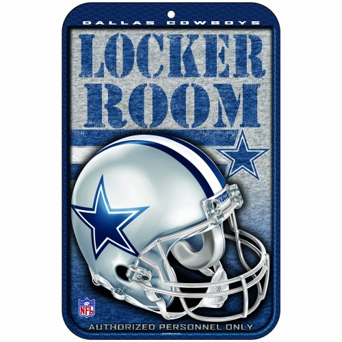 NFL Dallas Cowboys 11-by-17-Inch Locker Room Sign