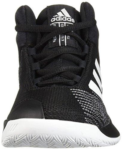 adidas Unisex Pro Spark 2018 Basketball Shoe, Black/White/Grey, 2.5 M US Little Kid by adidas (Image #4)
