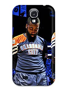 DanRobertse Perfect Tpu Case For Galaxy S4/ Anti-scratch Protector Case (oklahoma City Thunder Basketball Nba )