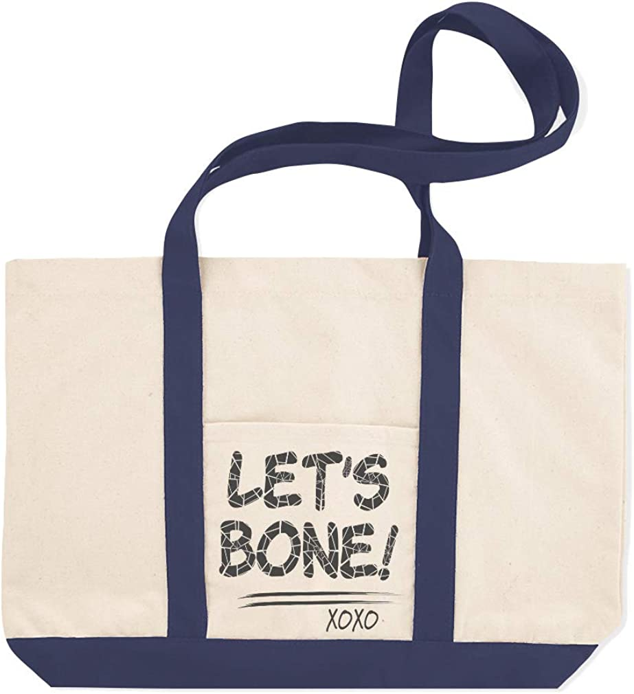 Canvas Shopping Tote Bag Lets Bone Holidays and Occasions Halloween Beach for Women Gifts