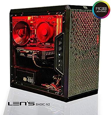 Lens Basic N2 – El PC Gamer Evolutif | AMD Ryzen 3 3200 G – Msi GTX 1650 Ventus – 16 GB DDR4 Ballistix – 240 GB SSD + 1 TB HDD – WiFi – W10 Pro (montado y probado en Francia): Amazon.es: Informática