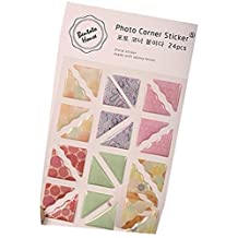 5 Sheets Photo Album Accessories Diy Diary Stickers Cotton Photo Corners A