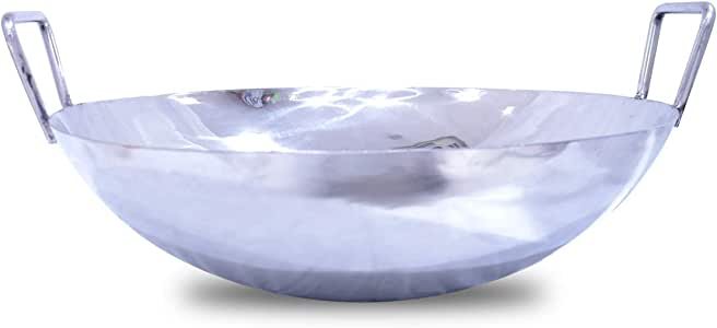 Bin Shihoun-Abomar Stainless Steel Fry Wok Wide - 57cm - Silver