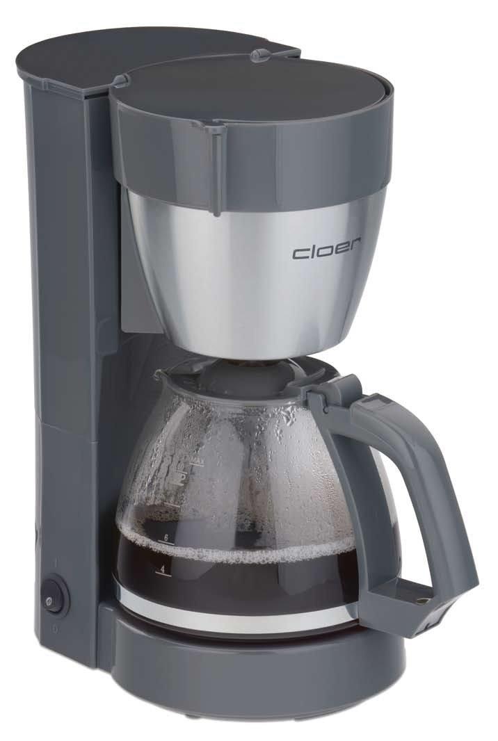 Cloer 5015 Libera installazione Macchina da caffè con filtro 10tazze Grigio, Acciaio inossidabile macchina per caffè