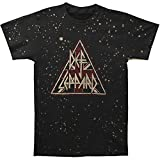 Def Leppard Mens Pyramid Logo Mens Bleach Treatment T T-Shirt Vintage