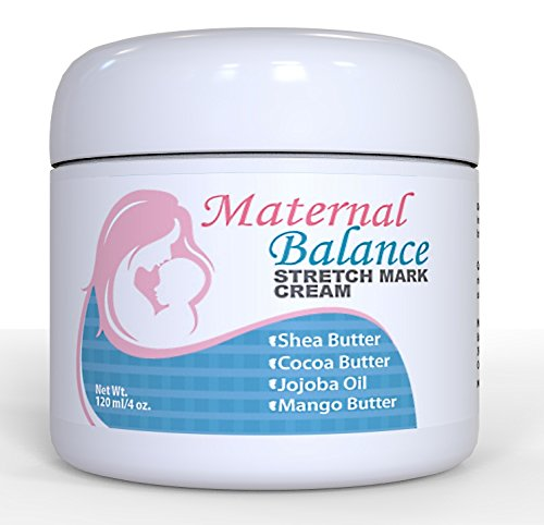 Maternal Balance Stretch Mark Cream for Pregnancy & After, C-Section Scar Treatment with Cocoa Butter and Shea Butter (Sample Butter Cocoa)