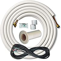 25 Foot 1/4 x 3/8 Line Set for Ductless Mini Split Systems with Mini Split Wire