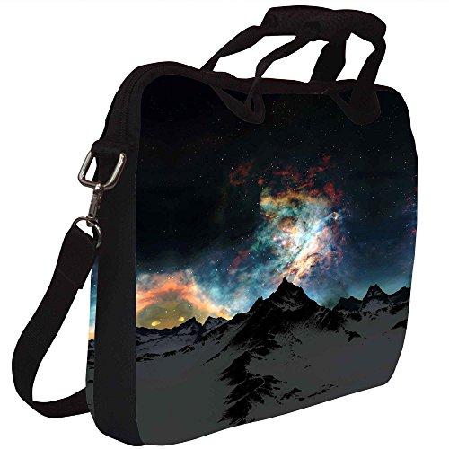 Snoogg Aurora Galaxy Gedruckt Notebook-Tasche mit Schultergurt 13 bis 13,6 Zoll