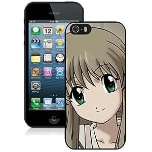 Popular And Unique Designed Cover Case For iPhone 5S With Futakoi Alternative Girl Smile black Phone Case