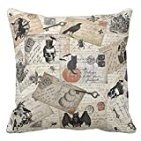 Sikye Couch Cushios Home Decor Pillow Shams Cotton Linen Square Throw Pillow Covers Halloween Scream Night (B)