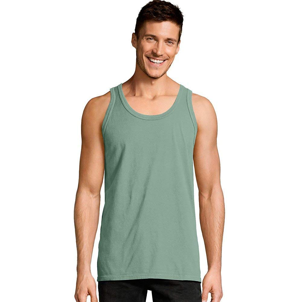 cef15b664a379 Hanes Men s ComfortWash Garment Dyed Sleeveless Tank Top at Amazon Men s  Clothing store