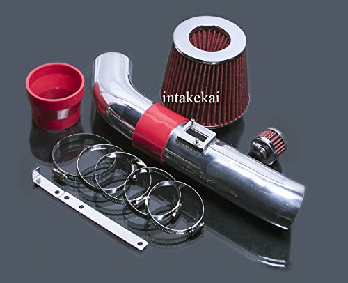 06 07 08 09 Chevrolet Trailblazer 4.2l l6 Engine / 2006 2007 2008 2009 GMC Envoy 4.2 4.2L l6 air intake kit system (Red)