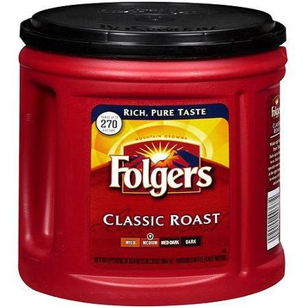 Folgers Coffee Ground Classic Roast Medium 33.9 OZ (Pack of 12) by Folgers