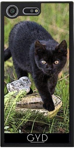 Funda Silicona para Sony Xperia XZ Premium - Gato Negro by Andrea Haase