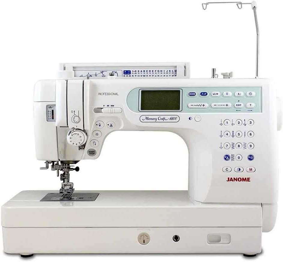 Janome máquina de coser Memory Craft 6600p: Amazon.es: Hogar