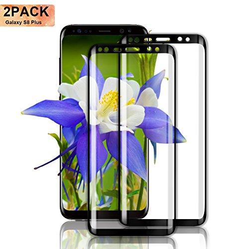 Nutmix Galaxy S8 Plus Verre Trempé, [Lot de 2] Couverture Complète Film Protection D'écran en Verre Trempé, Protecteur d'écran pour Galaxy S8 Plus, Ultra-mince, Dureté 9H, Ultra Résistant - Transparent