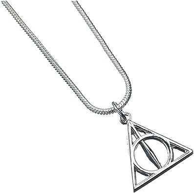 collier pendentif Harry Potter Triangle Relique de la Mort couleur argent