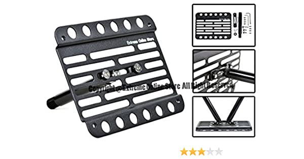 Extreme Online Store Replacement for 2011-2014 Volkswagen Jetta NCS New Compact Sedan EOS Plate Version 1 Mid Sized Front Bumper Tow Hook License Relocator Mount Bracket