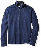 Amazon Essentials Men's Quarter-Zip French Rib Sweater, Blue Heather, XX-Large
