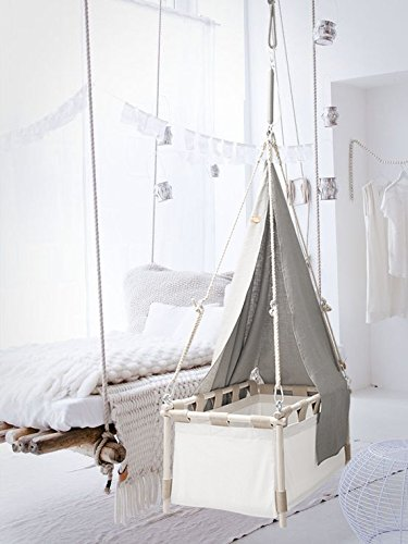 Hussh Hanging Cradle 'Flex'   Only $ 266 on hussh-Cradles.com   Baby Crib, Bassinet for Nursery, Springs and Swings, Organic Cotton. Fairly Made. Complies with European NEN-EN 1130 Safety norms.