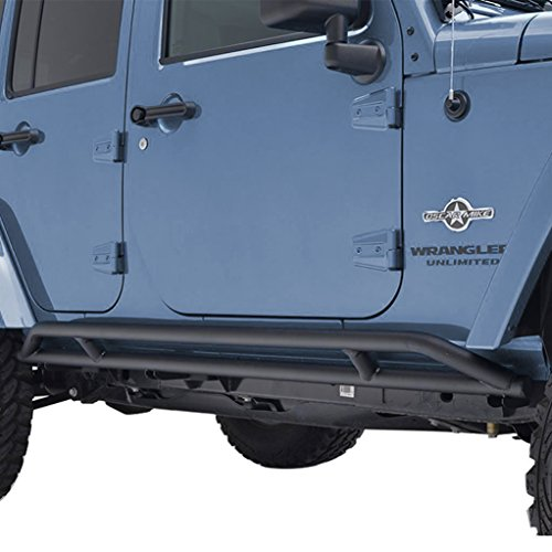 GSI 4 Door Jeep Wrangler JK Black Textured Tube Rock Sliders