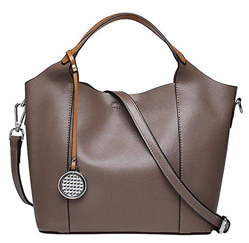 La mujer Xinmaoyuan Bolsos Bolso De cuero bolso de cuero señoras bolso de hombro Caqui