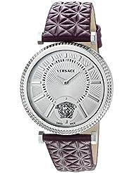 Versace Womens VQG010015 V-HELIX Analog Display Swiss Quartz Purple Watch