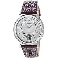 Versace Women's VQG010015 V-HELIX Analog Display Swiss Quartz Purple Watch