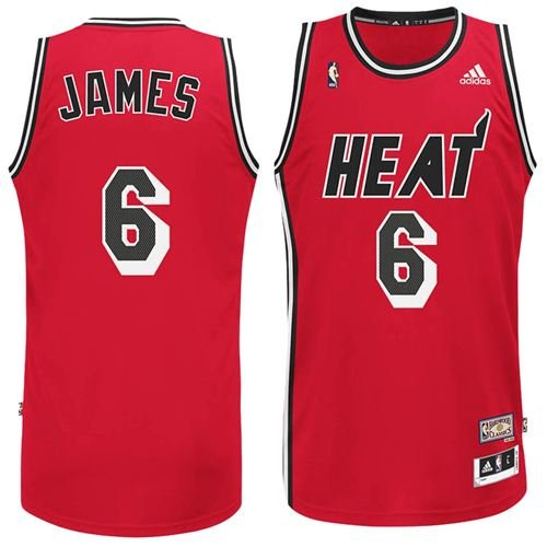 sports shoes 1f3d4 725be Amazon.com: Lebron James Miami Heat Red Hardwood Classics ...