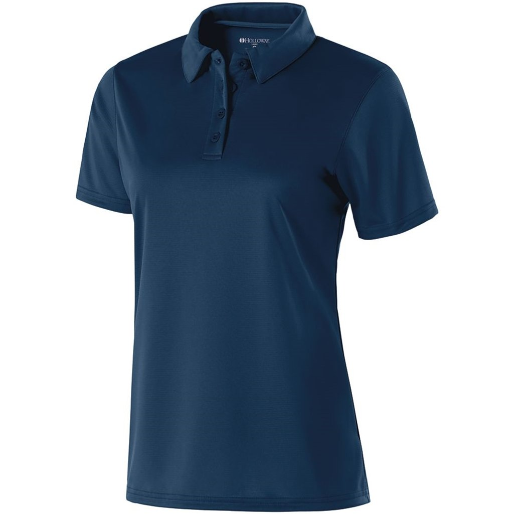 Holloway Ladies Dry Excel Shift Polo (X-Small, Navy) by Holloway