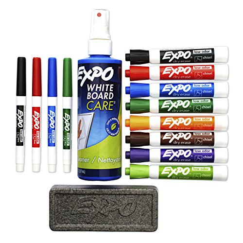 EXPO 80054 Low-Odor Dry Erase Markers, Chisel Tip, Assorted Colors, 15-Piece Set by Expo (Image #2)