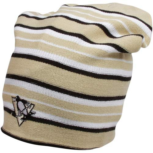 Nhl Reversible Knit Hat - Reebok Pittsburgh Penguins Faceoff Long Reversible Knit Hat One Size Fits All