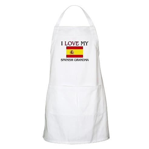 CafePress – I love my Spanisch Oma Grillschürze – Küche Schürze mit ...