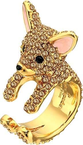 Kate Spade New York Womens Haute Stuff Chihuahua Ring