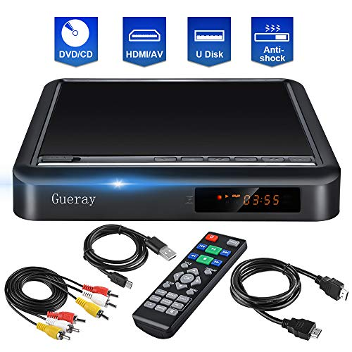 Check Out This DVD Player for TV CD Player Portable Disc Player with Full HD Gueray Upscaling Extern...