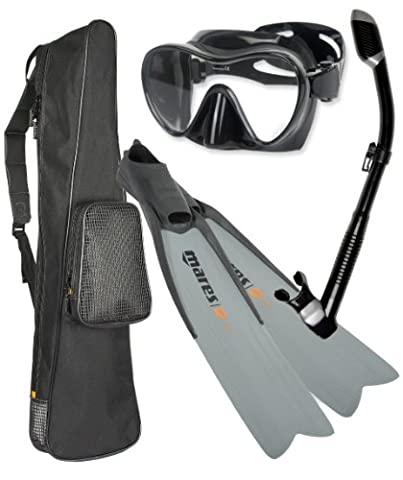 Mares Razor Free Diving Fin Mask Snorkel Set, 43