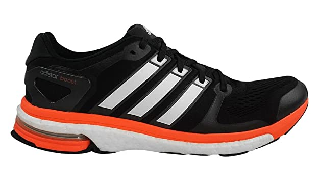 Adidas Adistar Boost Esm Mens Running Shoes 8 Black-white-solar Red   Amazon.co.uk  Shoes   Bags e4d7e7612