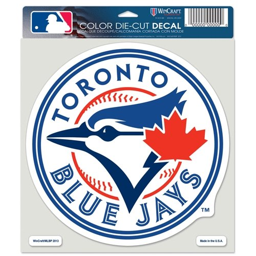(WinCraft MLB Toronto Blue Jays 16744013 Perfect Cut Color Decal, 8
