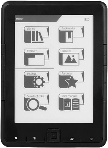 Nrpfell Lector de Ebook de 6 Pulgadas ResolucióN de E-Ink 800X600 4 Lector de Ebook E-Ink Ereader (8G): Amazon.es: Electrónica