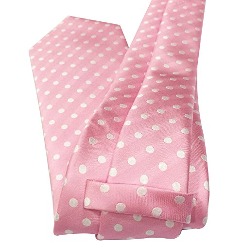 Polka Dots Various Colors New Tie 8cm Classic Necktie Silk Fashion Woven Dots and Pink 2'' 3 White Mens Polka qpwH7TOc7I