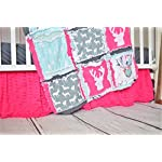 Hot-Pink-Crib-Skirt-for-Baby-Girl-Nursery-Bedding-Dust-Ruffle