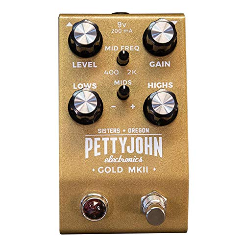 Pettyjohn Electronics Gold MKII Guitar Overdrive Pedal (Best Overdrive Pedal 2019)