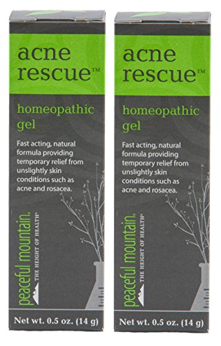 Peaceful Mountain Acne Rescue (Pack of 2) with Aloe Vera Concentrate, Arnica Flower, Chaparral Leaf and White Willow Bark, 0.5 oz. ()