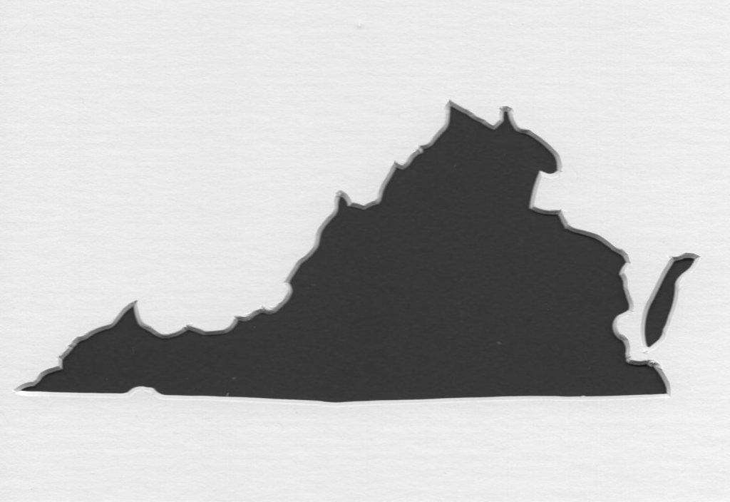 16 x 20 Virginia StateステンシルMadeから4 plyマットボード B06XBCKBTH
