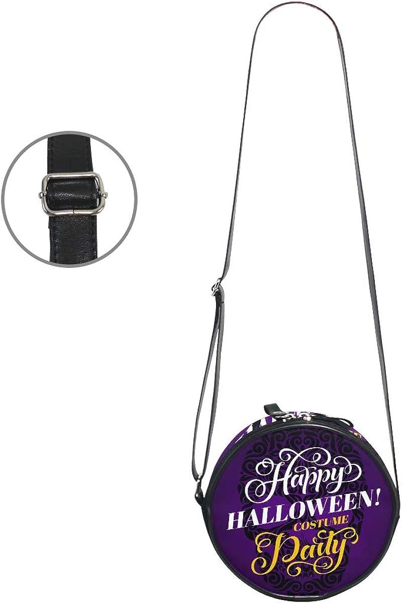 KEAKIA Halloween Skull Round Crossbody Bag Shoulder Sling Bag Handbag Purse Satchel Shoulder Bag for Kids Women